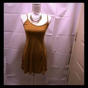 Forever 21 beige strap or fitted dress worn once L